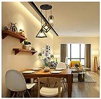 シャンデリア 現代のミニマリストペンダントライトクリエイティブ3ライトレストランシャンデリアレトロ錬鉄天井照明用バーカフェ装飾ランプ