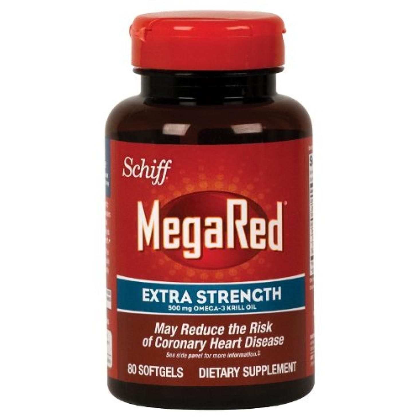 属性閉塞強調Schiff Megared Extra Strength 500mg Omega-3 Krill Oil - 80 Softgels by Simply Right [並行輸入品]