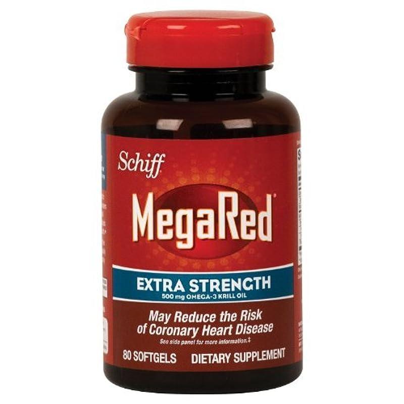 大学院話す楕円形Schiff Megared Extra Strength 500mg Omega-3 Krill Oil - 80 Softgels by Simply Right [並行輸入品]