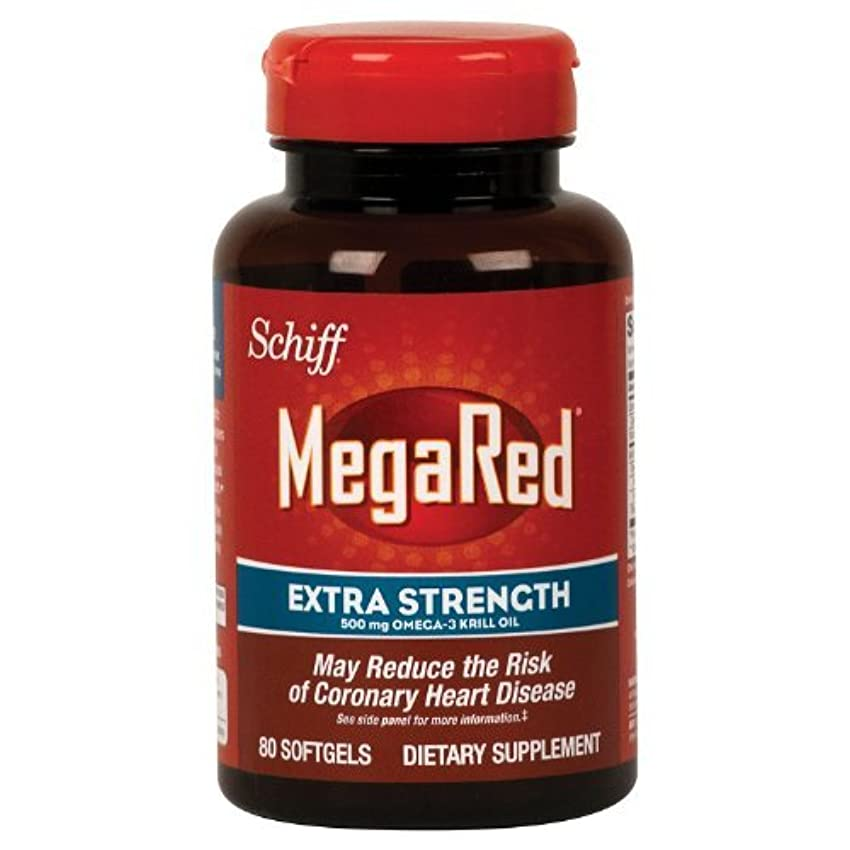 できた机捧げるSchiff Megared Extra Strength 500mg Omega-3 Krill Oil - 80 Softgels by Simply Right [並行輸入品]
