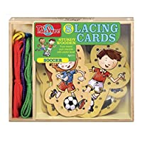 T.S. Shure Soccer Wooden Lacing Cards [Floral] [並行輸入品]