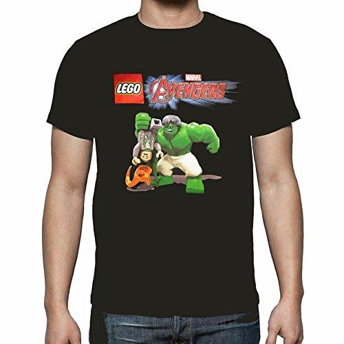 LEGO Marvel Avengers The Incredible Hulk and Loki Black Tシャツ( L )