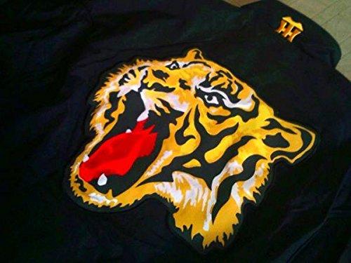 ローリングス Rawlings 阪神タイガース 中綿 グランドコート ジャケット 黒 L 刺繍 日本製