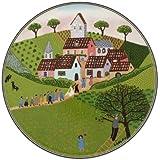 Villeroy & Boch Charm and Breakfast Design Naif Cake Plate, 30 cm, Premium Porcelain, White/Colourful