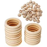 SONONIA ビーズ ティースリング 手作り素材 木製 約70個