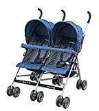 Dream On Me Double Twin Stroller, Navy by Dream On Me