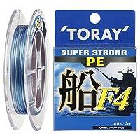 東レ(TORAY) PEライン スーパーストロング PE 船 F4 150m 1.5号 7.5kg 4本 5色