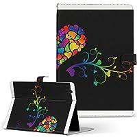 igcase iPad mini 4 mini 5 用 Apple アップル iPad アイパッド iPadmini4 タブレット 手帳型 タブレットケース タブレットカバー カバー レザー ケース 手帳タイプ フリップ ダイアリー 二つ折り 直接貼り付けタイプ 006773 ラブリー ハート カラフル