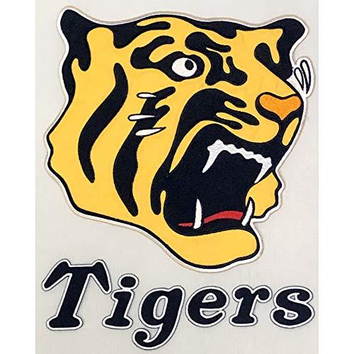 阪神タイガース 球団承認 アイロン圧着 Tigers 虎顔 刺繍ワッペン 横21cm×縦22cm