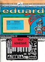 エデュアルド 1/48 ミラージュ F.1B内装パーツセット・糊付 キティホーク EDUFE654