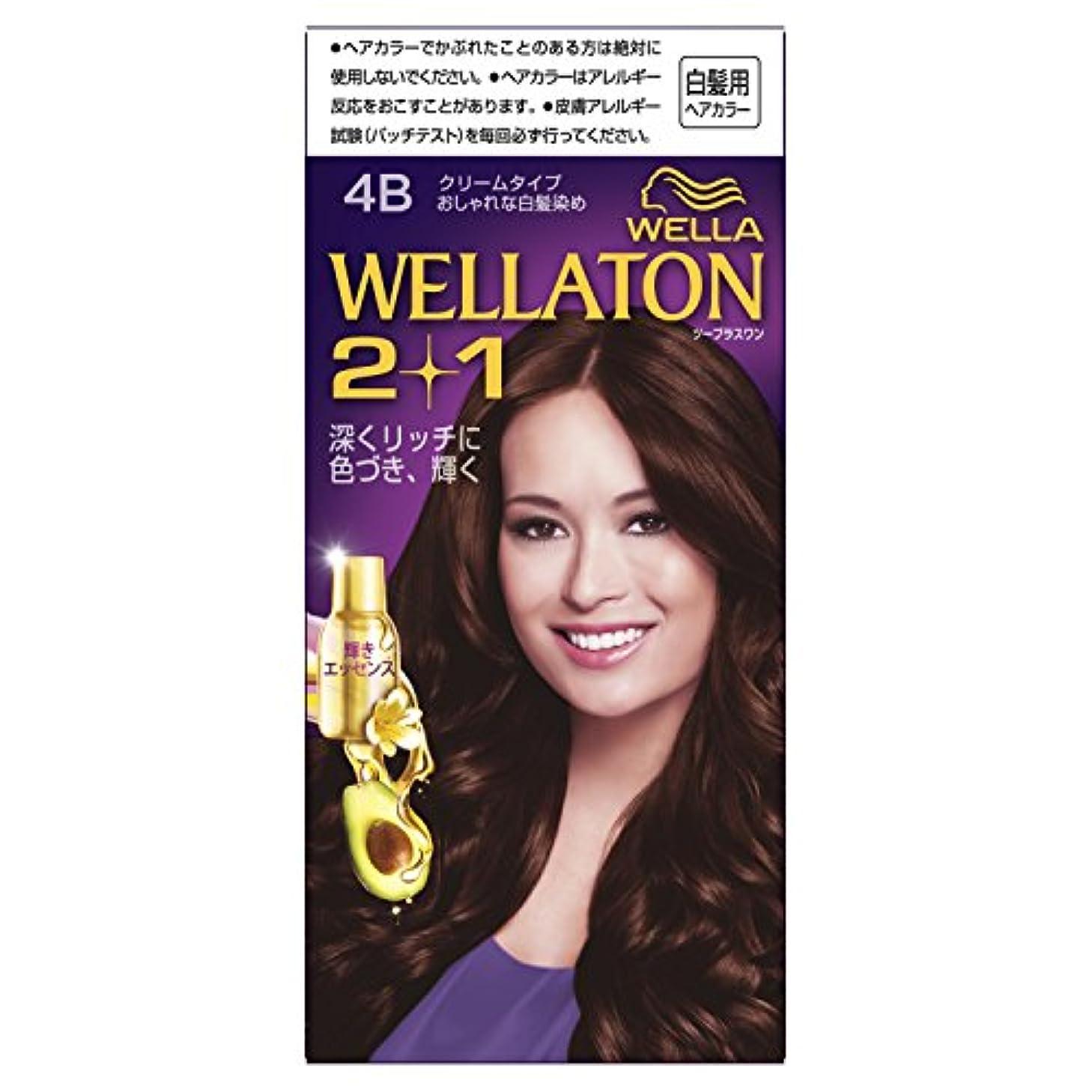 利点鹿ワックスウエラトーン2+1 クリームタイプ 4B [医薬部外品](おしゃれな白髪染め)