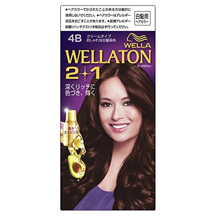 倫理的赤外線送信するウエラトーン2+1 クリームタイプ 4B [医薬部外品](おしゃれな白髪染め)