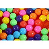 100個カラフルな楽しいボールソフトプラスチックBall Pit BallsベビーキッズテントSwim Toysボール5.5 CM、Colours