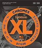 【国内正規品】 D'Addario ダダリオ エレキギター弦 XL Chromes Flat Wound Medium(13-56) ECG-26 ECG26