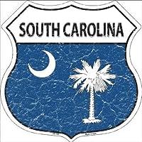 Smart Blonde HS-148 South Carolina State Flag Highway Shield Metal Sign