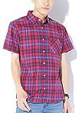 レッド×ネイビーチェック M JACK PORT(ジャックポート) チェック ブロードシャツ メンズ 半袖 シャツ ブランド チェックシャツ チェック柄シャツ カジュアルシャツ オックスフォードシャツ ウエスタンシャツ ネルシャツ 半そで スリム S M L XL LL JKP20779005888