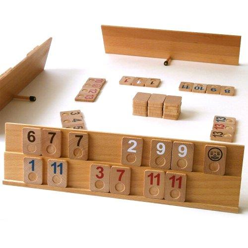 【ドイツ】木箱入り木製ラミィキューブ・デラックスサイズ/ Rummi Kub