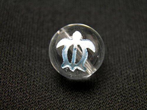 【彫刻ビーズ・彫りビーズ】水晶 ホヌ マリンブルー彫り|12mm 天然石|パワーストーン|