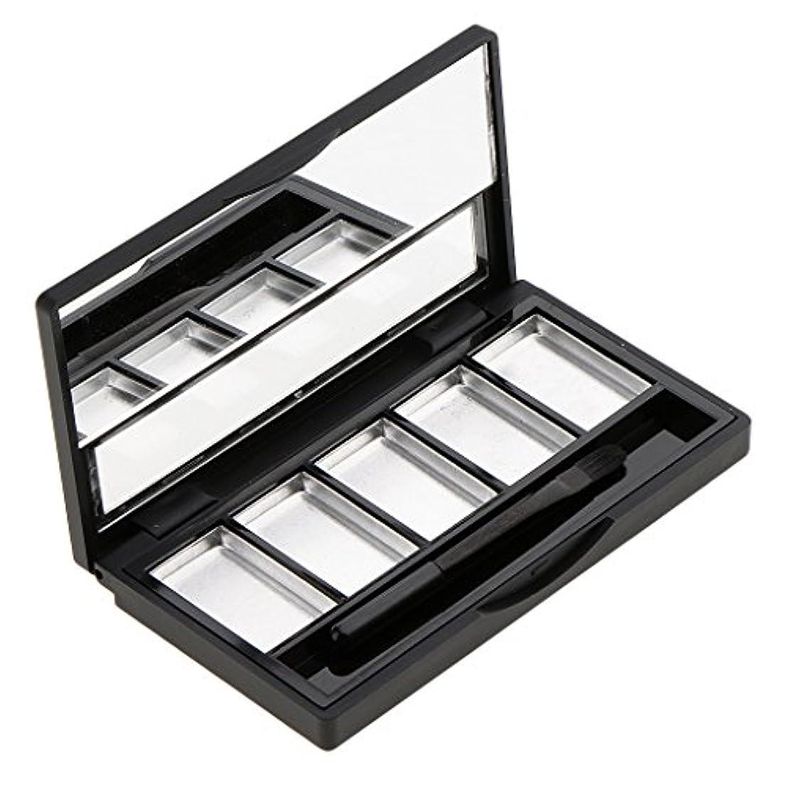 なめらかなコーヒー前売Fenteer メイクアップパレット 空パレット ミラー 化粧鏡 メイクブラシ DIY 化粧品 便利 2タイプ選べる  - 5スロット
