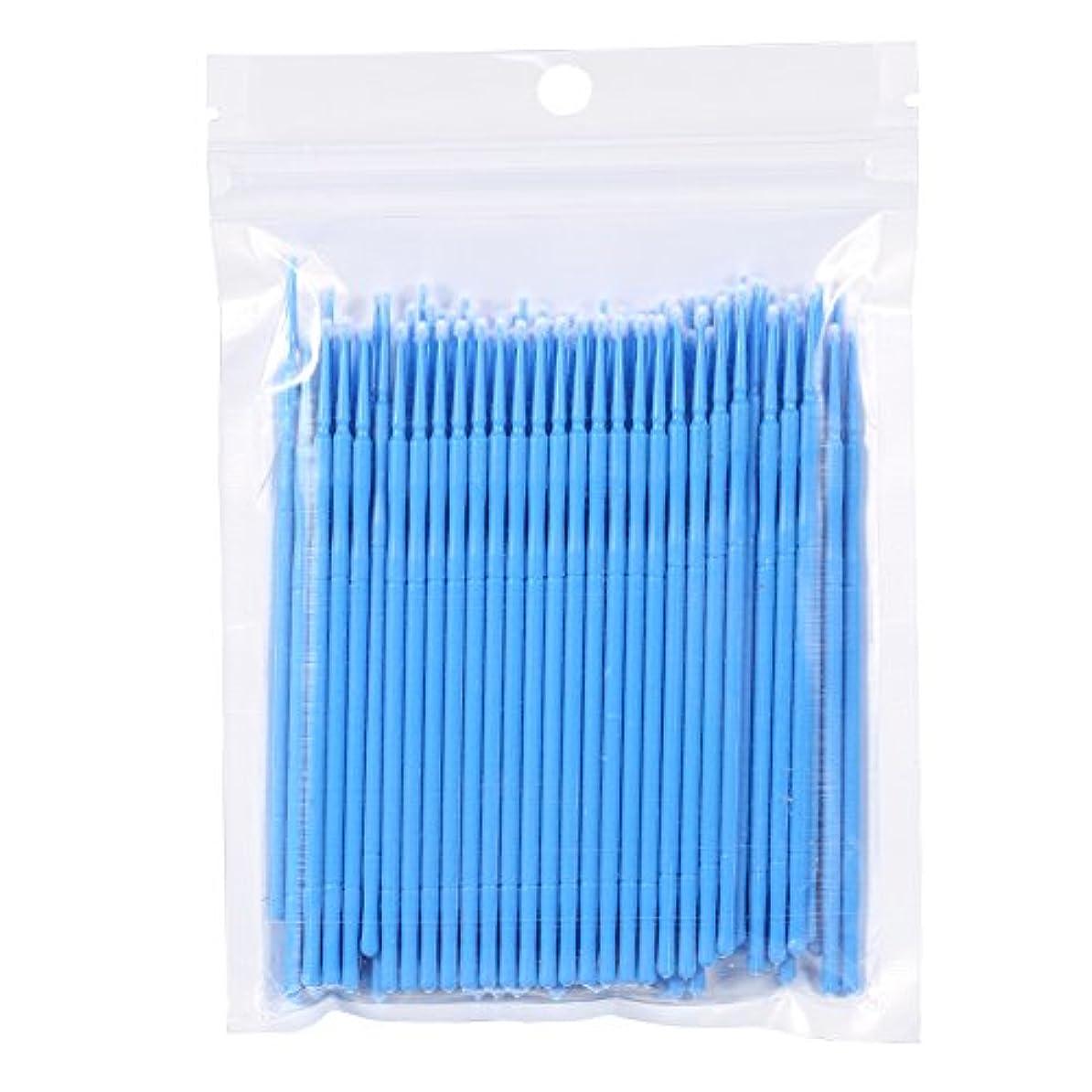 インレイ後時々100PCS 使い捨て可能なまつげブラシ、まつ毛ブラシ 便利(蓝色)