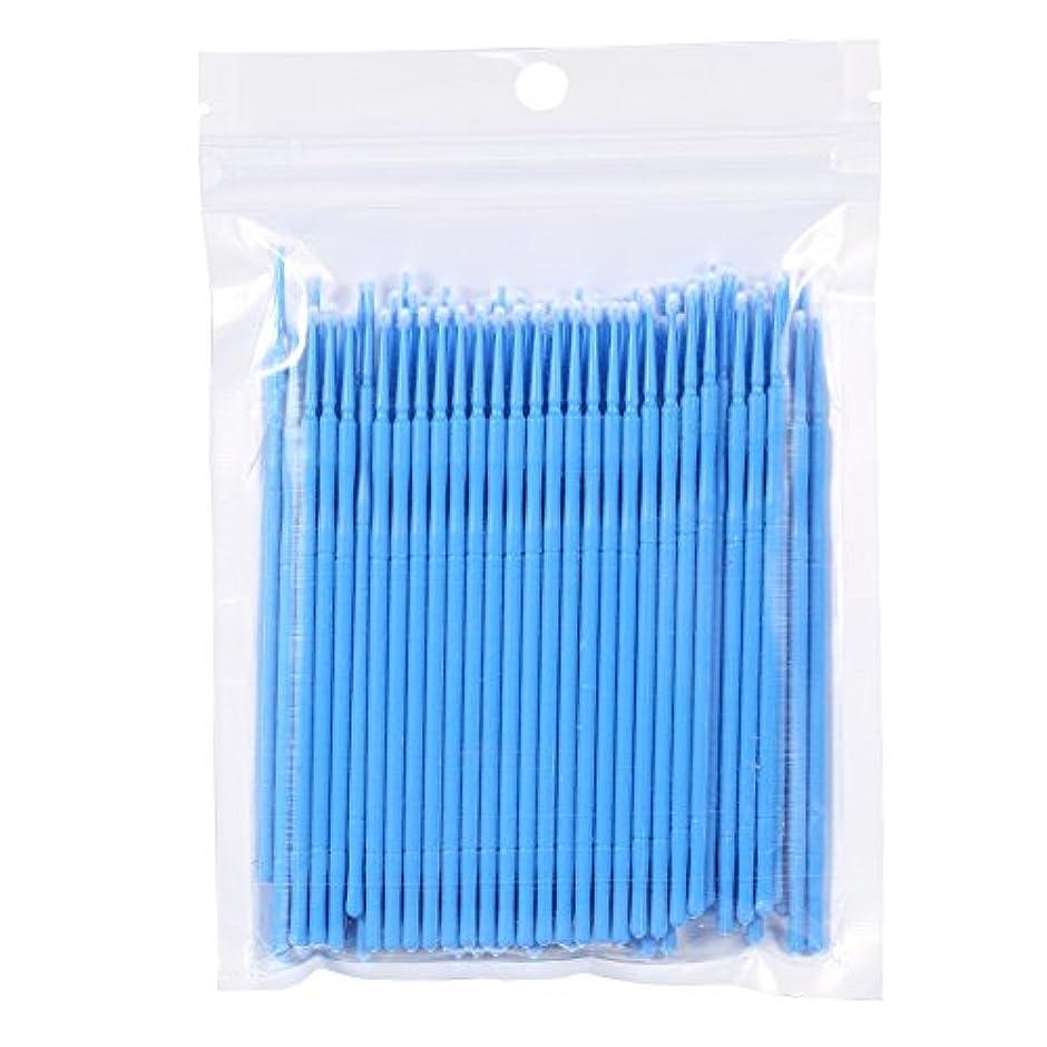 映画排泄物限定100PCS 使い捨て可能なまつげブラシ、まつ毛ブラシ 便利(蓝色)