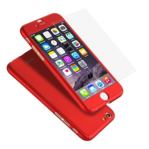 iPhone6/6s ケース 全面保護 強化ガラスフィルム ...