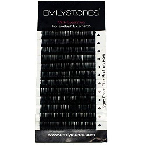 EMILYSTORES まつげエクステまつげミンク・シルク 8mm 9mm 10...