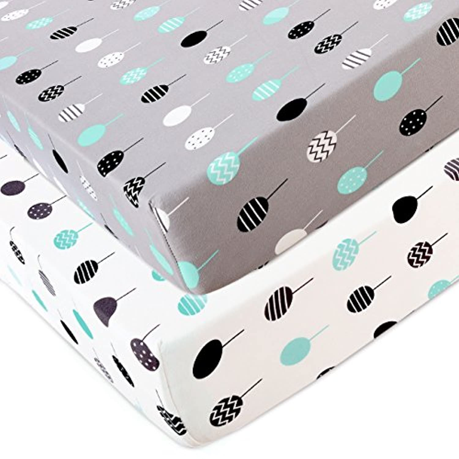 Stretchy Changing Pad covers-brolex 2パックジャージーニット変更パッドCovers For Girls Boys crib sheet グレー