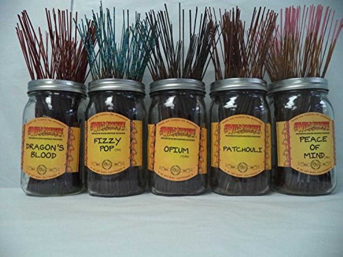 きらめきなぞらえる放送Wildberry Incense Sticks Best Seller Set #1: 20 Sticks Each of 5 Scents, Total 100 Sticks!