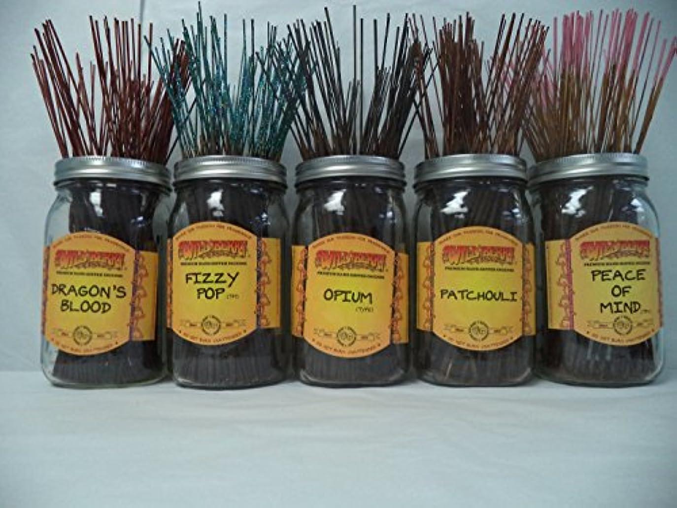 割り当てシャープ姉妹Wildberry Incense Sticks Best Seller Set #1: 20 Sticks Each of 5 Scents, Total 100 Sticks!