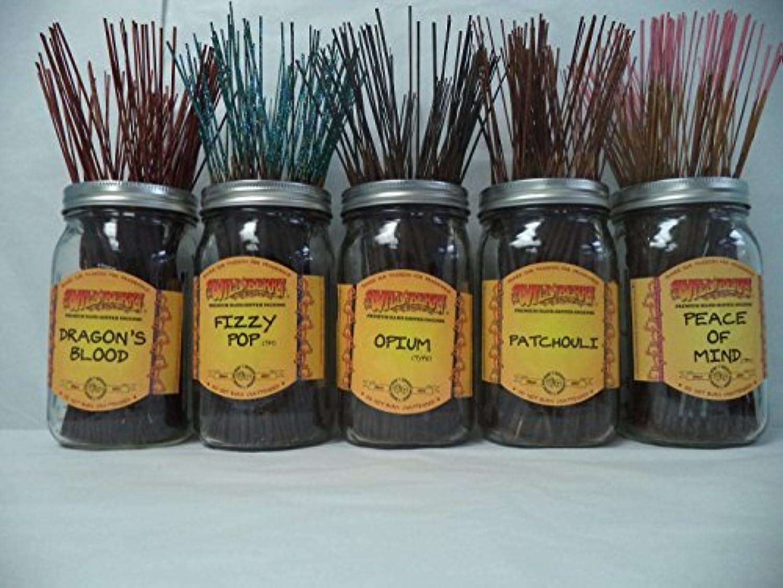 自動化外出バッフルWildberry Incense Sticks Best Seller Set #1: 20 Sticks Each of 5 Scents, Total 100 Sticks!