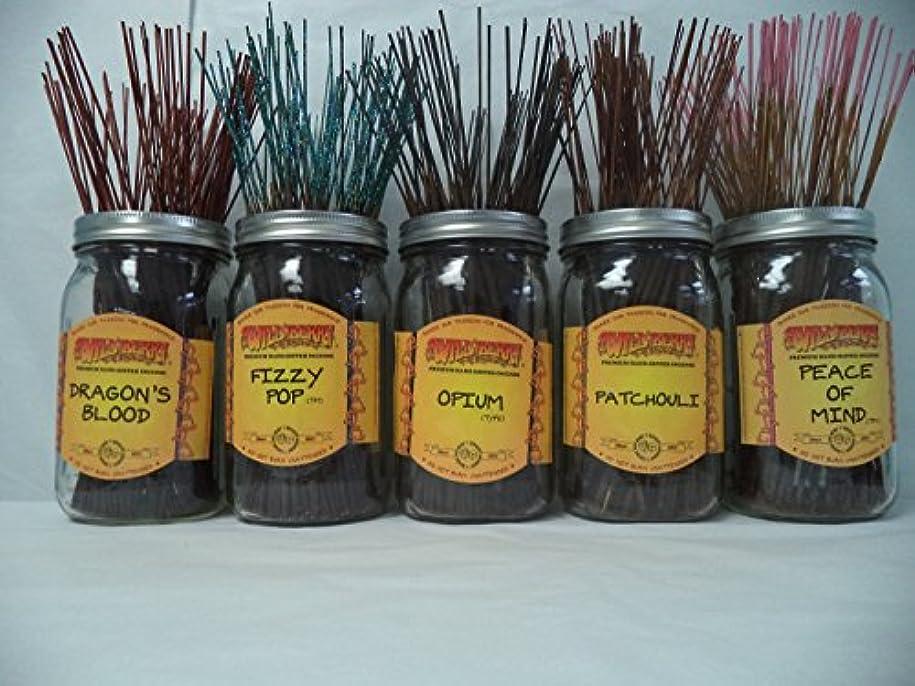 花に水をやる測定可能描写Wildberry Incense Sticks Best Seller Set #1: 20 Sticks Each of 5 Scents, Total 100 Sticks!