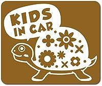 imoninn KIDS in car ステッカー 【マグネットタイプ】 No.53 カメさん (ゴールドメタリック)