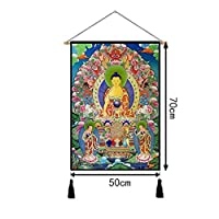 装飾された装飾的な壁のタペストリータペストリー仏仏教タンカ絵画タペストリータペストリー布の教室 ZHYGDQ (Color : H)