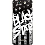 CaseMarket 【ポリカ型】 docomo Xperia SX SO-05D ポリカーボネート素材 ハードケース [ Black American BLACK STAR ]