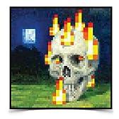 バーニングスカルポスターMINECRAFT  Minecraft Burning Skull Poster