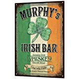 BGOJM Murphys Irish Bar ブリキ看板 メタル 素朴なバー 幸運 ビールパブ 飾り板 レトロ