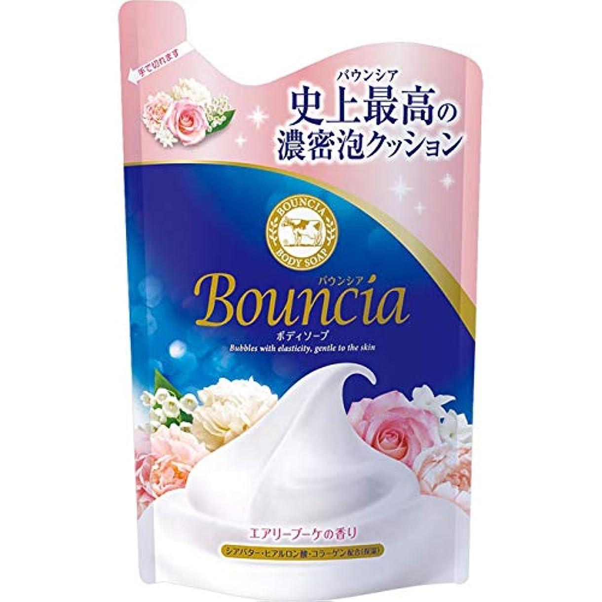 進むウェーハおばあさんバウンシアボディソープ エアリーブーケの香り 詰替用?400mL × 4個セット