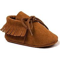 Royal Victory Baby Boys Girls Moccasins Soft Sole Tassels Prewalker Anti-Slip Shoes