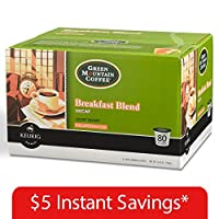 Green Mountain Decaffeinated Coffee, Breakfast Blend (80 K-Cups) by Green Mountain Coffee