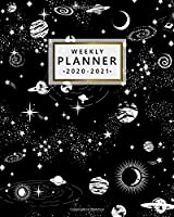 Weekly Planner 2020-2021: Two Year Monthly Weekly Daily Organizer & Planner   Spiral Galaxy 2 Year Schedule Agenda with To-Do's, Holidays & Inspirational Quotes, Vision Boards & Notes   Nifty Space Print