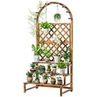フラワースタンドソリッドウッド掛けポットラックリビングルーム屋内屋外バルコニーパティオプラント盆栽装飾フレーム (サイズ さいず : 90cm)