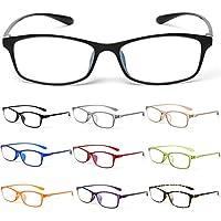 MIDI-ミディ 10カラーで遊べる老眼鏡 【Colors】 おしゃれ レディース メンズ ブルーライトカット (ダテPCメガネ) シャイニーブラック (M-209,C1,+0.00)