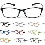 10カラーで遊べる老眼鏡 【Colors】 老眼鏡 おしゃれ レディース メンズ ブルーライトカット (度数+2.00, マットブラック)