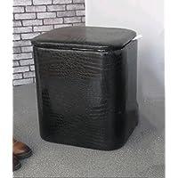 WTL かご?バスケット シンプルなストレージスツール大きなストレージスペース (色 : ブラック, サイズ さいず : 大 だい)