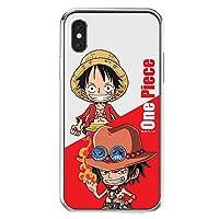 〈iPhoneX・アイフォンX〉 ワンピース 透明 ゼリー ケース One Piece Clear Jelly Case スマホ ケース ソフト ハード 可愛い カバー 〔フレンズ・Friends〕