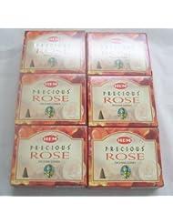 Hem Precious Rose Incense Cones、6パックの10 Cones = 60 Cones