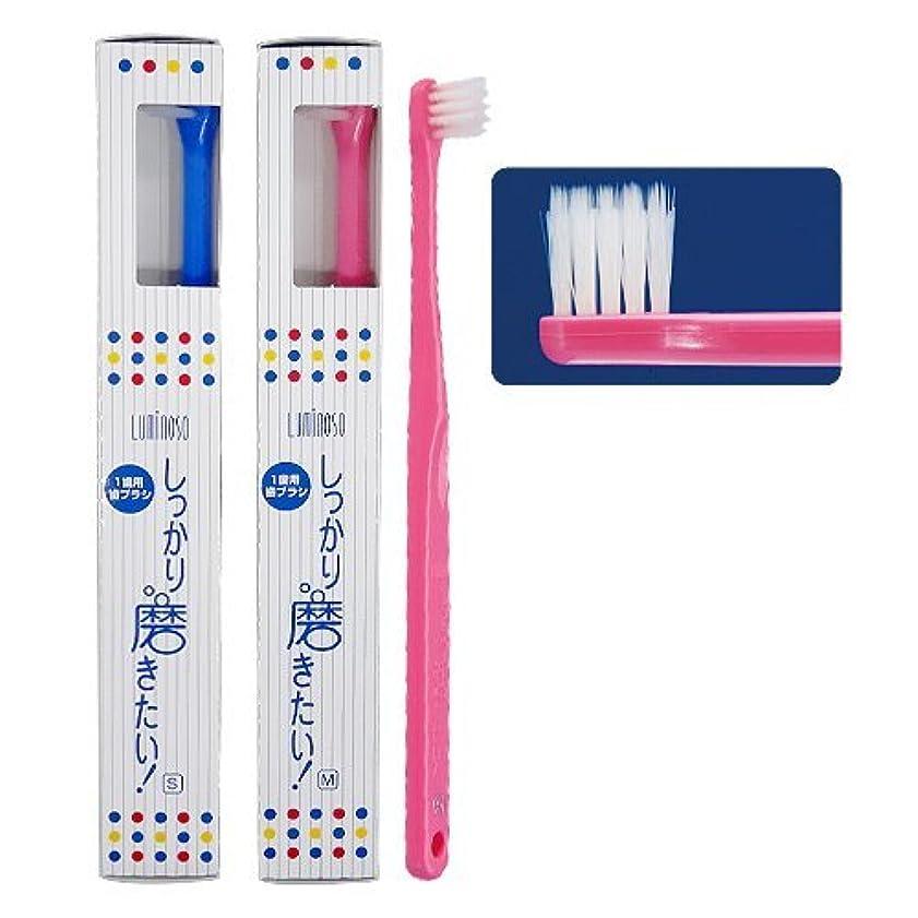 健康五月順番ルミノソ 1歯用歯ブラシ「しっかり磨きたい!」スタンダード ミディアム (カラー指定不可) 5本