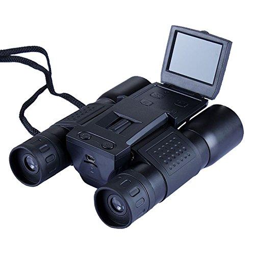 GoodsLand 双眼鏡 見ながら撮影 デジタル双眼鏡 ハイビジョンHD 12倍 大迫力 動画 写真 撮影 録画 液晶パネル搭載 GD-HD-BINO