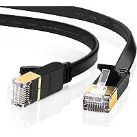 UGREEN LANケーブル カテゴリー7 RJ45 コネクタ ギガビット10Gbps/600MHz CAT7準拠 イーサネットケーブル STP 爪折れ防止 シールド モデム ルータ PS3 PS4 Xbox等に対応 3M